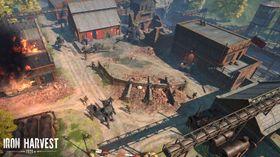 Soldatar får hjelp frå mektige kampmaskiner.