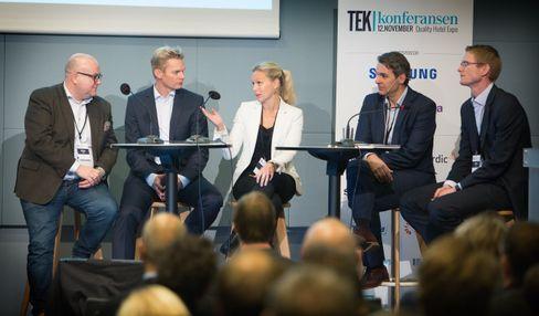 Tek-konferansen 2015. Paneldebatt, mobilsesjonen. Foto: Eirik Helland Urke.
