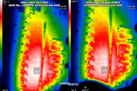 Temperatur før og etter fastvareoppgradering.