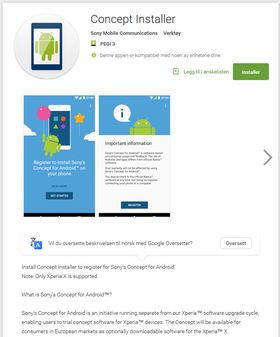 Denne appen kan gi deg Android 7 på Sony Xperia X. Men husk å ta sikkerhetskopi av innholdet ditt før du oppdaterer telefonen. Det ligger verktøy for det inni appen.