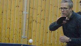 AKTIV: : Thorfinnur Gudmundsson i Oppegård IL håper enda flere er klare for å prøve bordtennis.