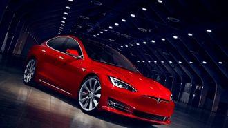 En Tesla Model S har et batteri bestående av mange tusen litiumion-celler.