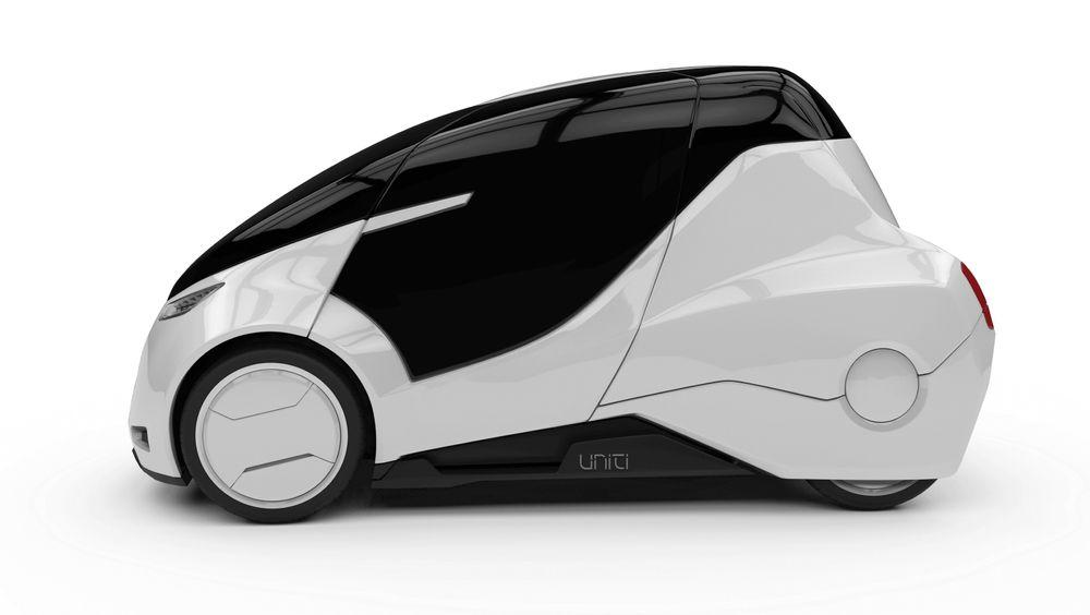 Uniti er en liten elbil med plass til to personer.