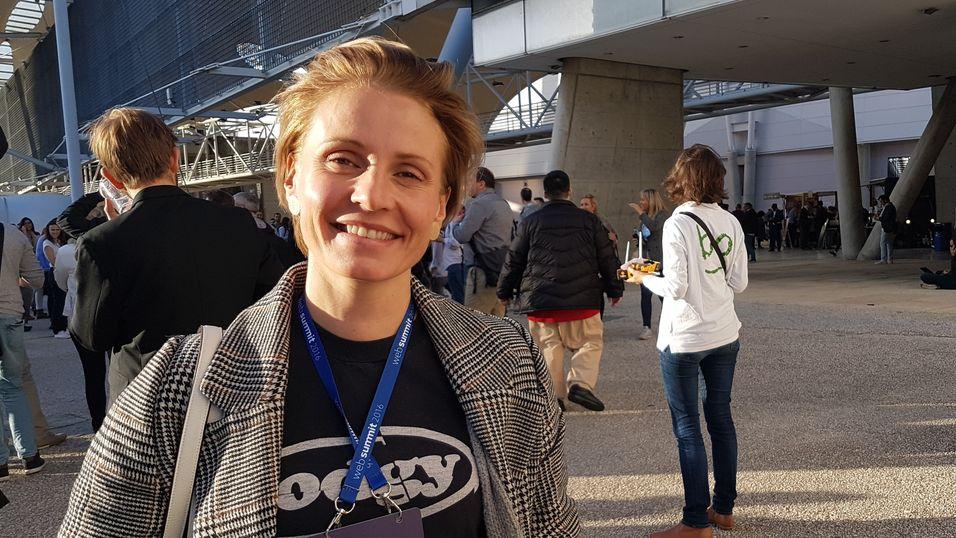 Bente Busch er stordata-ansvarlig i Telia. Denne uka har hun vært i Lisboa for å lære og hente inspirasjon.