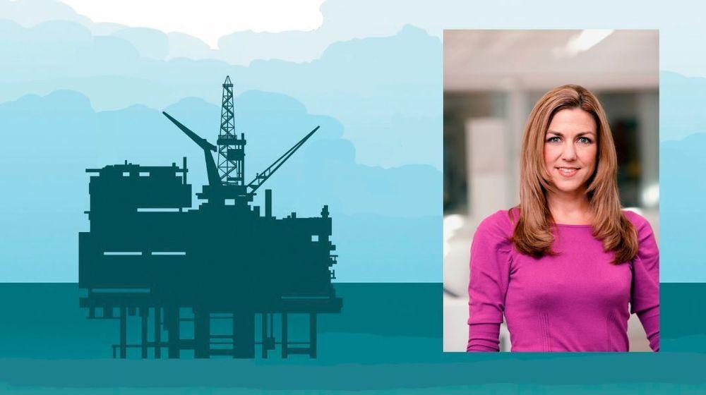 Nordea-analytiker Thina Margrethe Saltvedt (innfelt) mener at Dong Energys strategi om å trekke seg ut av olje og gass er fordi grønn energi begynner å bli lønnsomt.