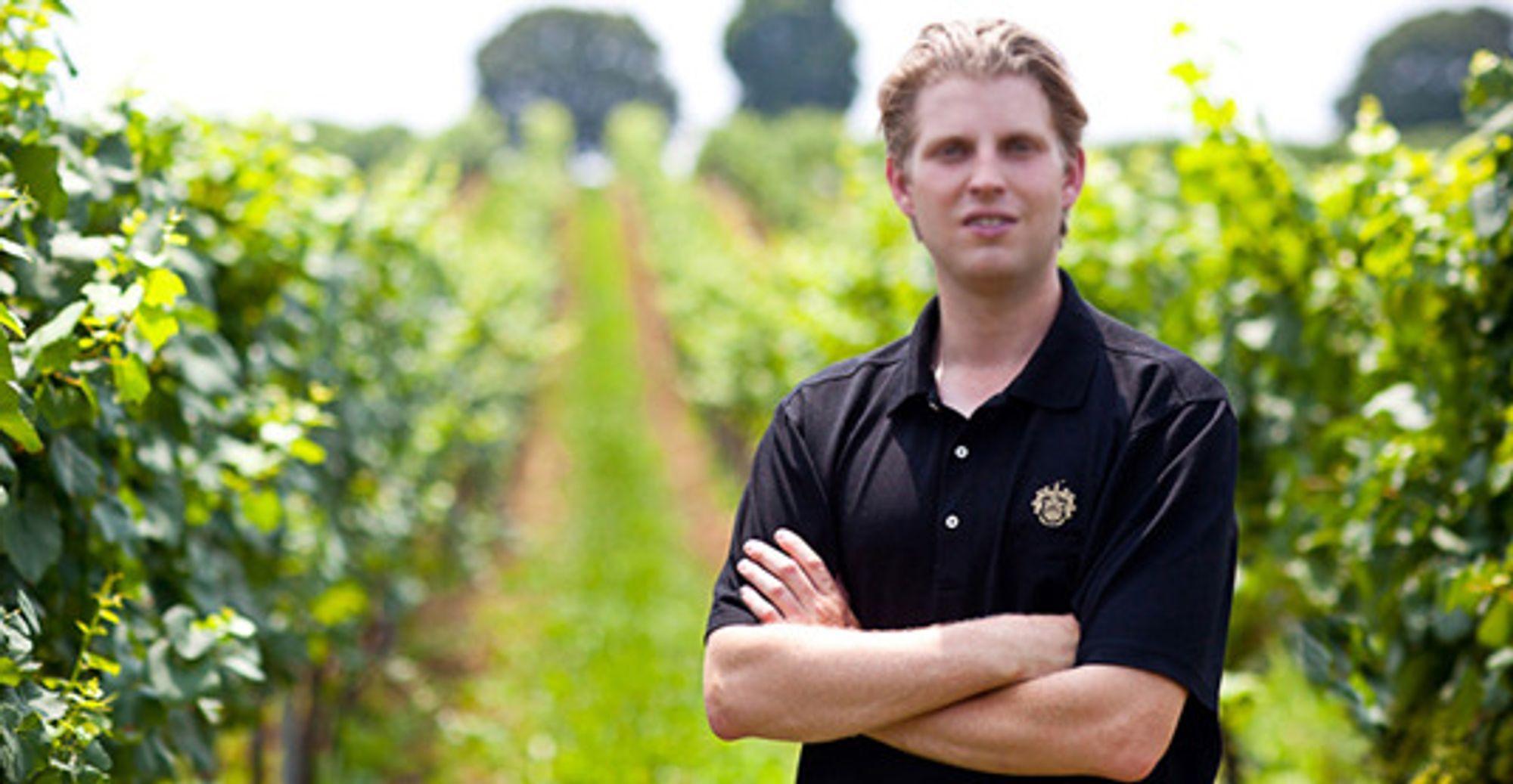 Eric Trump er sjefen for Trumps vingård.