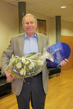 STÅR PÅ FOR ANDRE: Frank Westgaards utrettelige innsats for lokalsamfunnet ble hedret i 2013.