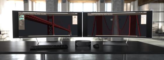 Det er støtte for opptil 6 skjermer.