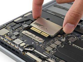 SSD-en fjernes fra den nye MacBook Pro uten Touch Bar.
