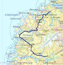 Den nye kraftlinjen mellom Ørskog og Sogndal.