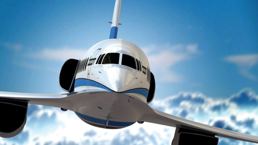 Omtrent slik vil det kommende supersoniske passasjerflyet fra Boom Technology se ut.