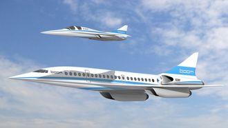 Illustrasjon av demonstratoren sammen med fullskalaflyet.