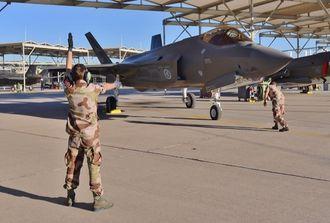 Helnorsk F-35-flygning på flybasen Luke.