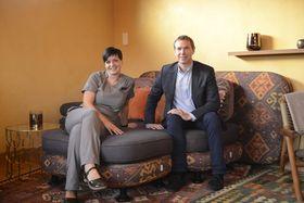 VANN-VITTIG STOLT:Daglig leder Espen Braaten og Front og House Manager, Camilla Lund Andersen, er stolte av anlegget.