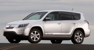 Toyota RAV4 EV er så langt Toyotas eneste serieproduserte elbil. Den ble produsert i USA.