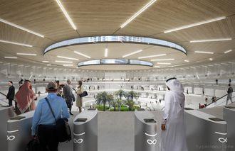 H1 ser for seg at terminalen blir underjordisk. Her ser du hovedinngangen.