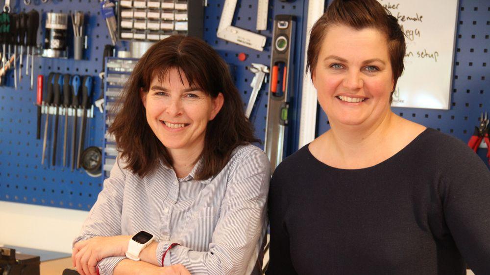 iKuben, fra venstre Hilde Aspås og Heidi Nakken