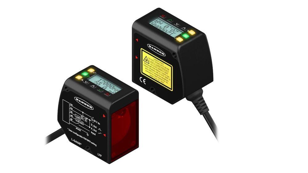 Lasersensor for avstandsmåling fra Banner Engineering.