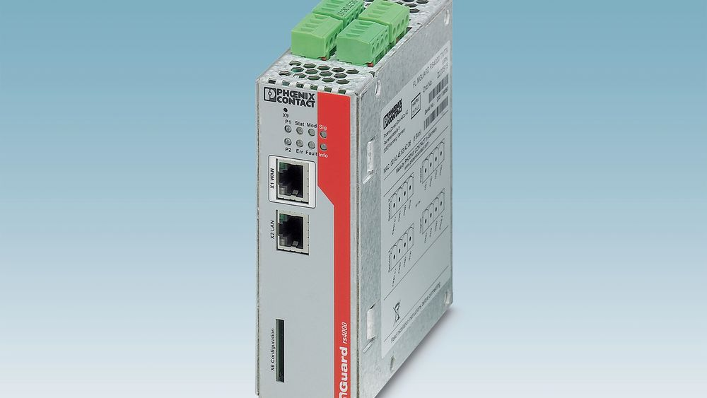 Ruteren FL MGuard RS4000 TX/TX VPN-M tilfredsstiller de strenge kravene som stilles innen skipsautomatisering samt for onshore- og offshoreanlegg.