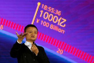 Alibaba-gründer og styreformann Jack Ma (52) blir jevnlig utropt til en av Asias rikeste menn. Han er god for over 34 milliarder dollar, ifølge Bloomberg. Her er IT-entreprenøren avbildet under et foredrag i Shenzhen, Kina for et par uker siden.