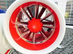 MOTOR: E-fan har to motorer. Flyet kan holde seg oppe i rundt en time.