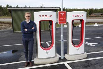 Kommunikasjonssjef i Tesla Norge, Even Sandvold Roland.