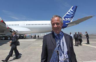 Testflyger Frank Chapman, her ved det første A350-900-flyet som fløy.