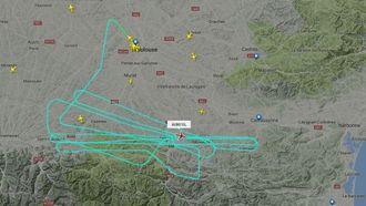 MSN059s track etter cirka tre timer i lufta.