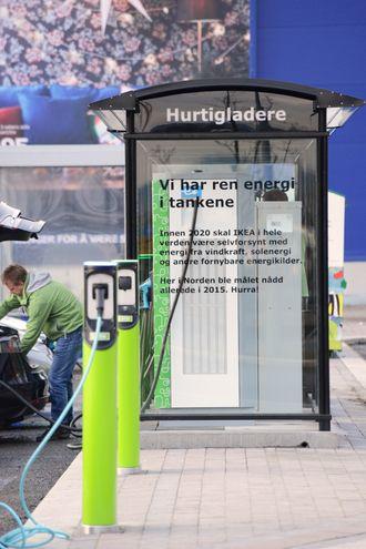 Hurtiglader ved Ikea Slependen.