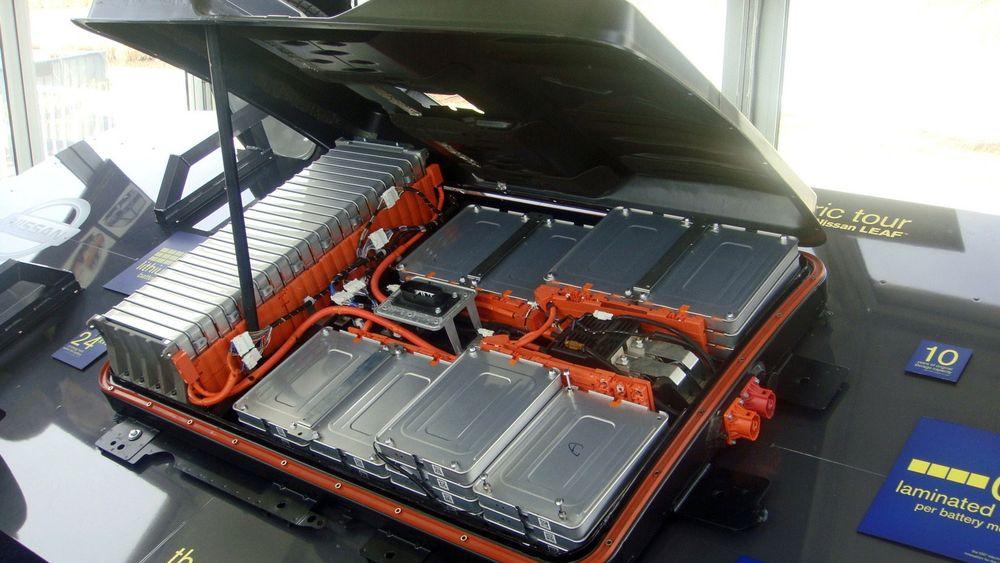 Batteripakke fra Nissan Leaf.