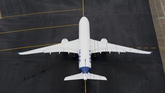 A350-1000 har fått nye vinger.