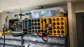 Dette verktøysystemet har Solheim printet ut på sin egen 3D-printer.
