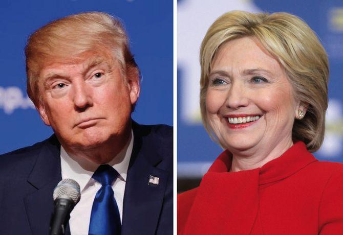 Kringskastingsrådet skal debattere NRKs dekning av Donald Trump og Hillary Clinton (Foto: Wikimedia Commons)