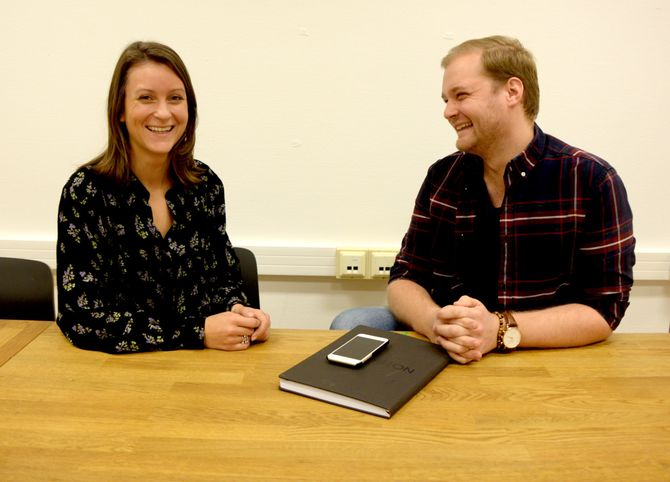 Godt humør før lansering! Daglig leder Agnes Dyvik og COO André Wærness-Vold. (Foto: Gard L. Michalsen)