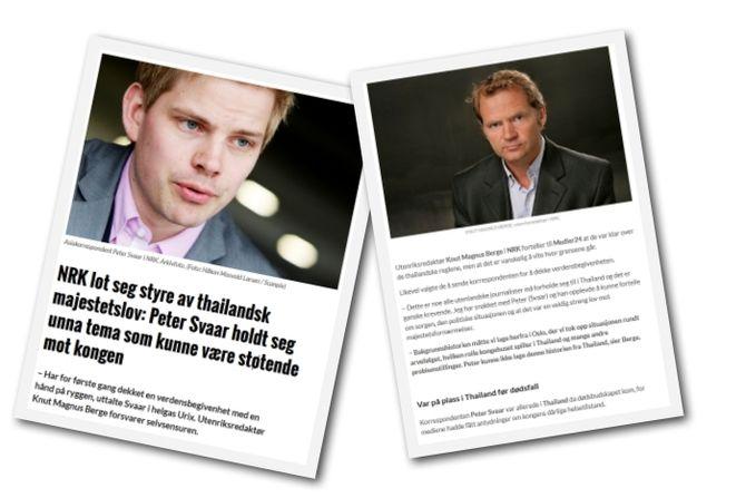 Faksimile fra saken om NRK-dekningen av den thailandske kongens dødsfall.