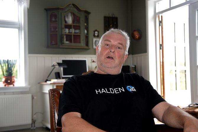 Redaktør og gründer Rainer Prang i Halden24. (Foto: Erik Waatland)