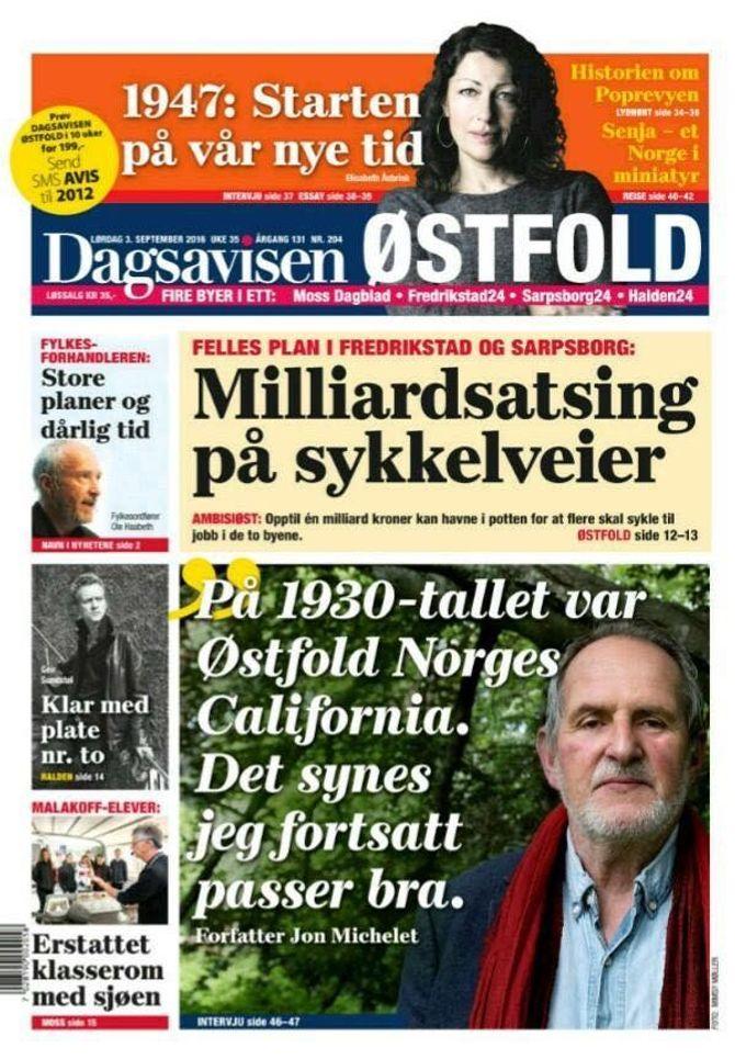 Den første utgaven av Dagsavisen Østfold (Foto: Faksimile).