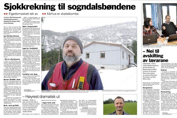 Faksimile fra Sogn Avis (Faksimile).