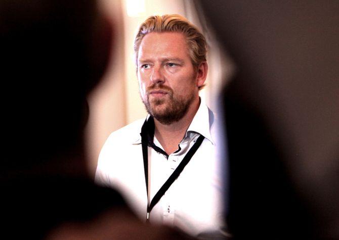 Nyhets- og sportsredaktør Jan Ove Årsæther i TV 2. Her etter allmøtet i Bergen for noen uker siden.