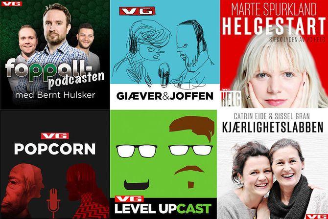 VG har på kort tid blitt en av de største på podkaster i Norge. (Grafikk: VG)