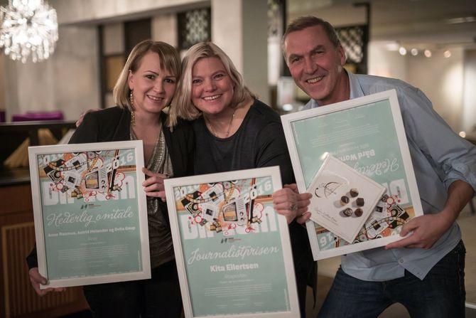 Anne Rasmus, Kita Eilertsen og Bård Wormdal. (Foto: Tor Even Mathisen)