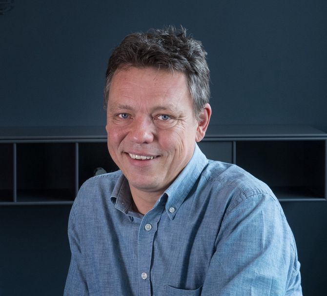 Gründer Steinar Evensen i DLD. (Foto: Privat)