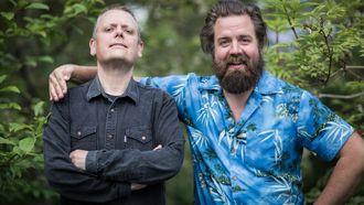 Programlederne Rune Nilson og Torfinn Borkhus i NRK P1 Lønsj.