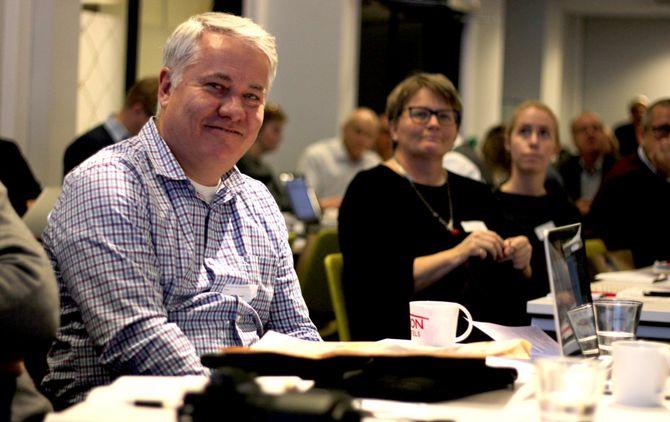 Ole Henrik Nissen-Lie, ansvarlig redaktør for Seilmagasinet, er årets opplagsvinner i Fagpressen. Her på Fagpressedagen 2016. (Foto: Gard L. Michalsen)