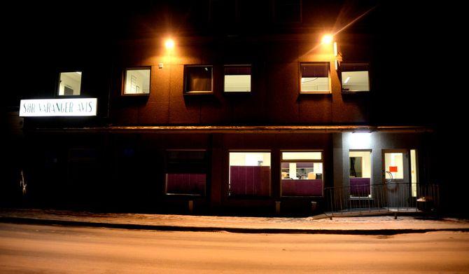 Avishus med trykkeri i Kirkenes sentrum.