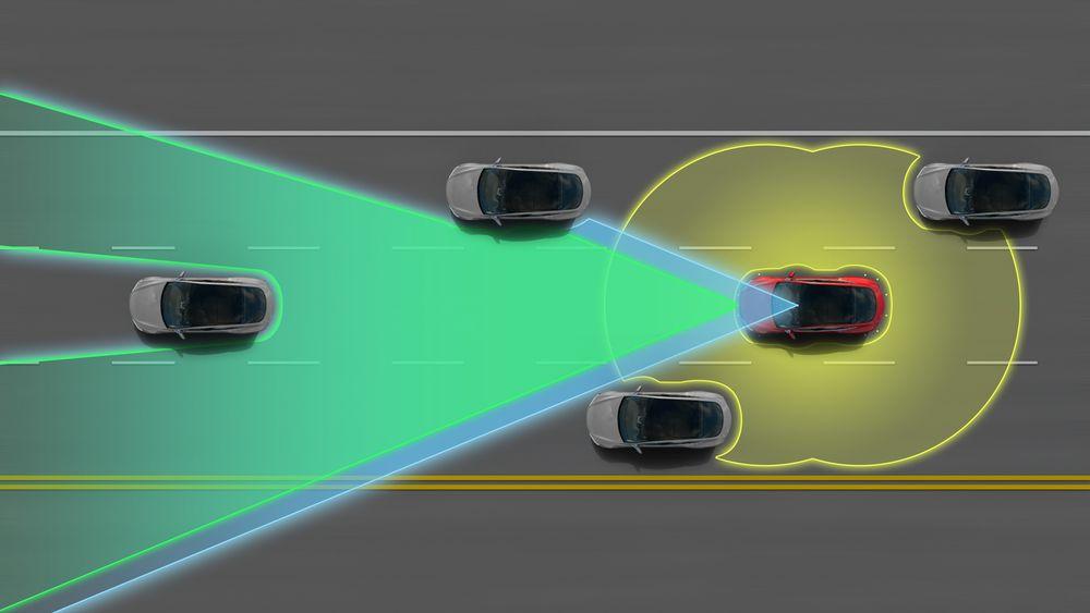 Tesla Autopilot benytter en rekke sensorer for å danne et bilde av omverdenen.