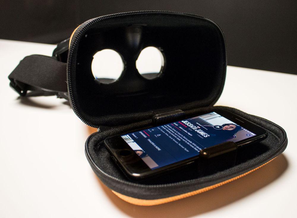 iPhone 7 er blant de større mobilene som får plass i MovieMask. Storebroren, iPhone 7 Plus, blir altfor stor.