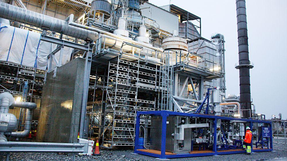 Pilotanlegget er plassert i en ramme på størrelse med en 40 fotscontainer på 4x10 meter. Rensemodulen har et membranareal på 3 m2 som kan produsere 25-100 m3 hydrogen per time og fange 0,5-2 tonn CO2 per dag.