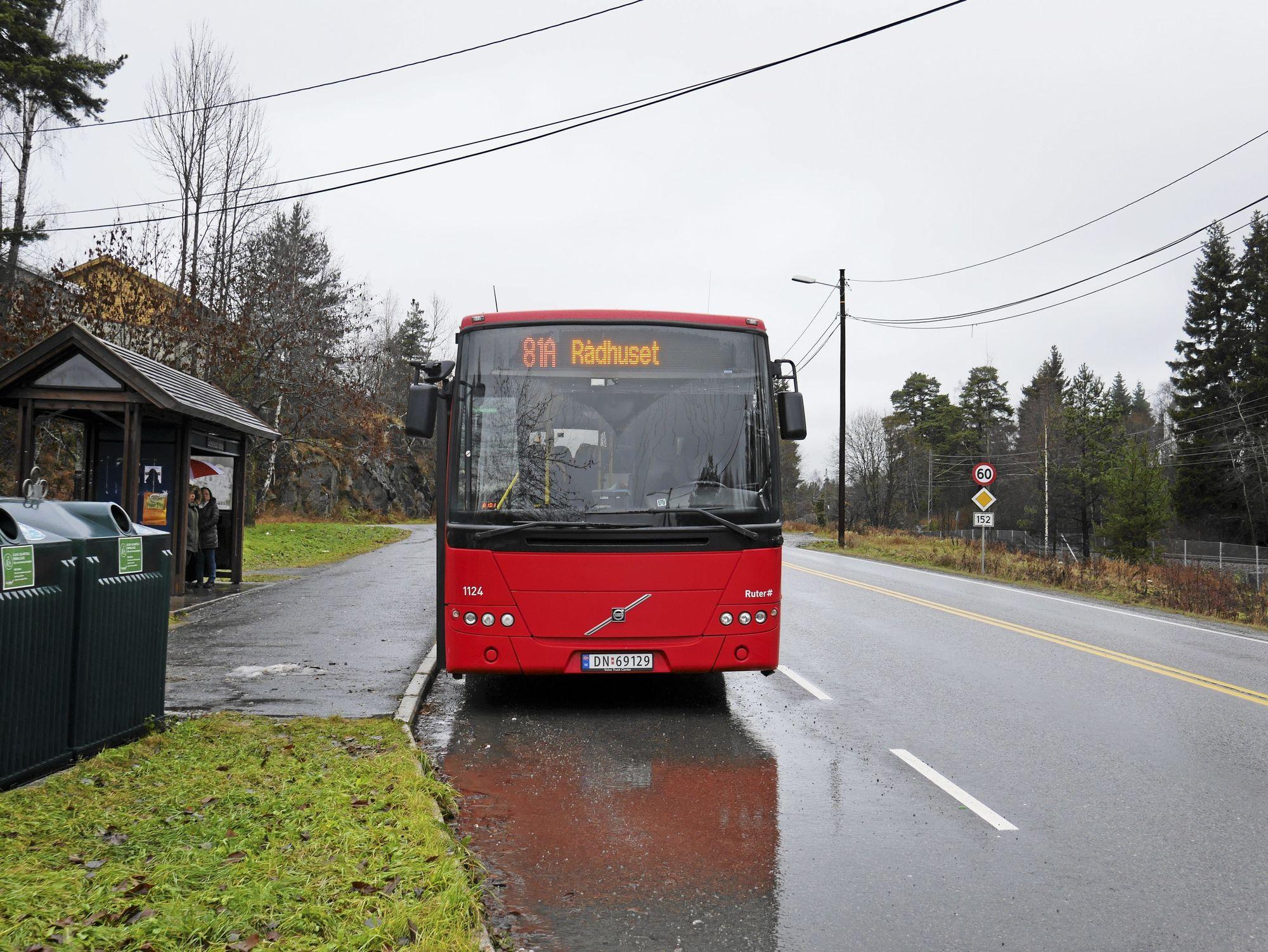 SISTE STOPP: I dag er buss-stoppet ved Greverud kirke siste stopp for lokalbussene i Oppegård.