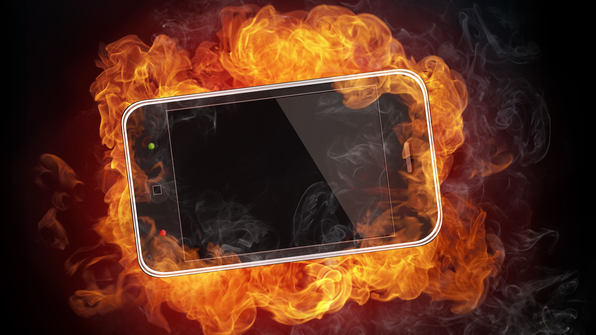 Brennende mobil.